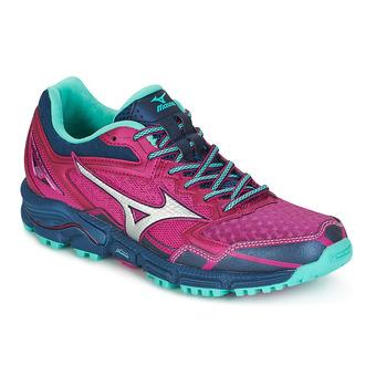 Zapatillas de trail mujer WAVE DAICHI 2 fushia red/silver/turquoise