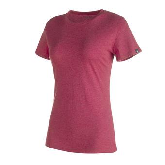 Tee-shirt MC femme METEORA crimson melange