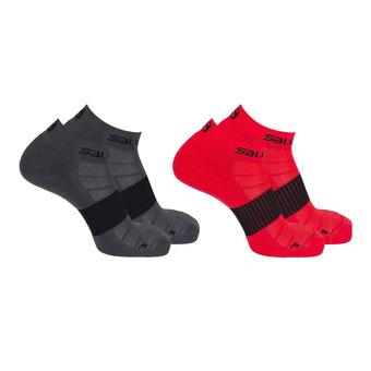 Pack de 2 pares de calcetines hombre SENSE 2P forged iron/matador