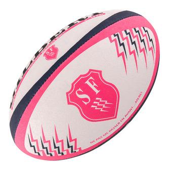 Balón de rugby STADE FRANCAIS REPLICA T.5 rosa/azul