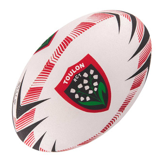 Ballon de rugby supporter TOULON T.5 noir/rouge