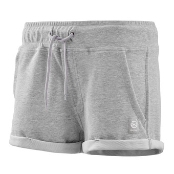 """Short mujer ACTIVEWEAR OUTPUT SPORT 2"""" silver/marle"""