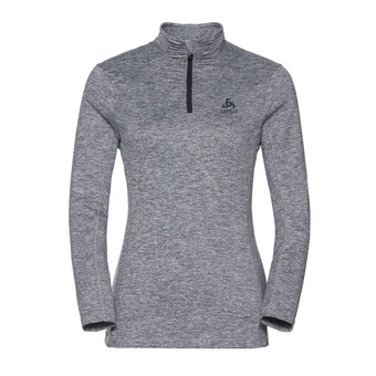 Sweat 1/2 zip femme STEEZE grey melange