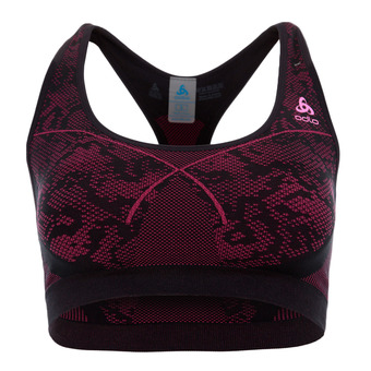 Sujetador deportivo mujer MEDIUM black/pink glo