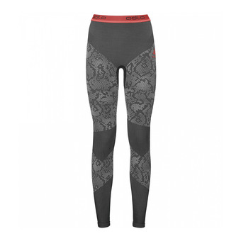 Collant femme BLACKCOMB EVOLUTION WARM black/odlo concrete grey/hot coral