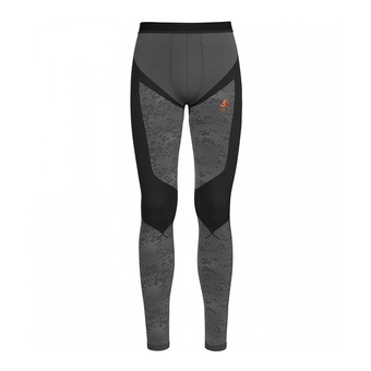 Collant homme BLACKCOMB EVOLUTION WARM black/odlo concrete grey/orangeade