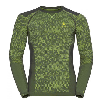 Camiseta térmica hombre BLACKCOMB EVOLUTION WARM odlo graphite grey/safety yellow