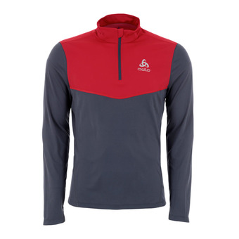 Sudadera hombre GOD JUL ombre blue/jester red