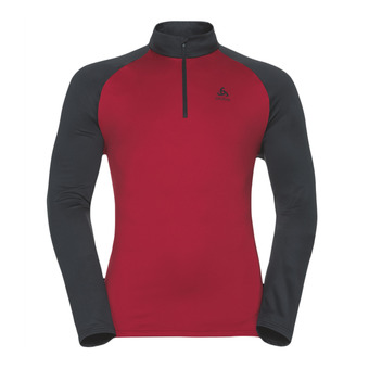 Sweat 1/2 zip homme PAZOLA jester red/black
