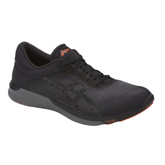 Chaussures running homme FUZEX RUSH black/carbon/cherry tomato