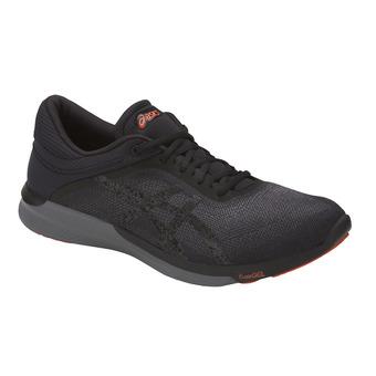 Zapatillas de running hombre FUZEX RUSH black/carbon/cherry tomato