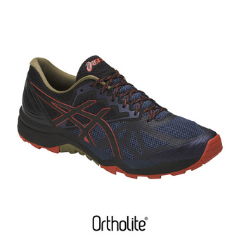 Zapatillas de trail hombre GEL-FUJITRACUBO 6 insignia blue/black/red clay