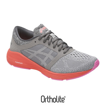Zapatillas de running mujer ROADHAWK FF carbon/silver/flash coral