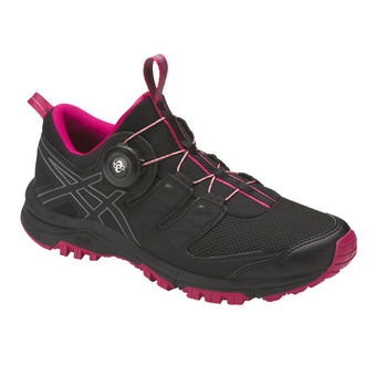 Chaussures trail femme GEL-FUJIRADO black/carbon/cosmo pink