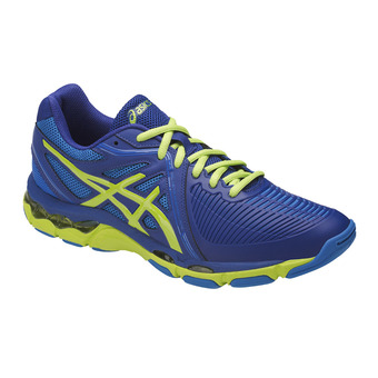 Zapatillas de voleibol hombre GEL-NETBURNER limoges/energy green/directoire blue