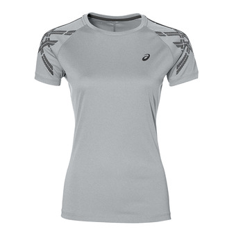 Camiseta mujer STRIPE grey heater