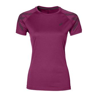 Camiseta mujer STRIPE plum heater