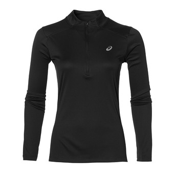 Maillot ML 1/2 zip femme TOP performance black