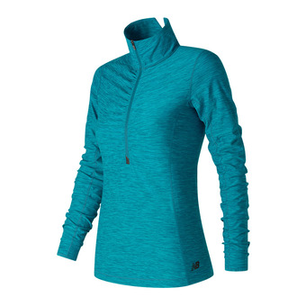 Maillot ML demi-zip femme IN TRANSIT maroccan blue heather