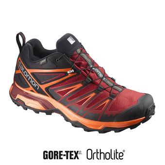 Zapatillas senderismo hombre X ULTRA 3 GTX® black/red dalhia/scarl