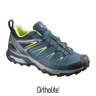 Zapatillas de senderismo hombre X ULTRA 3 mallard blue/reflecting/li