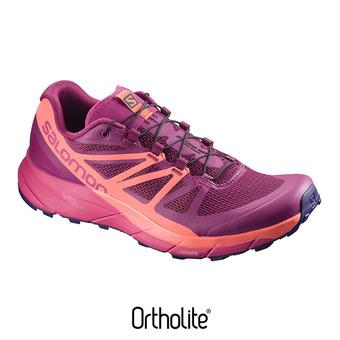 Chaussures trail femme SENSE RIDE sangria/living cor/vi