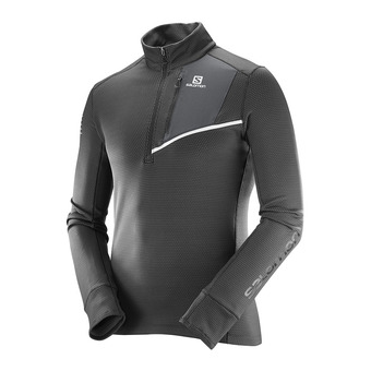Maillot ML homme fast wind mind black/forged iron