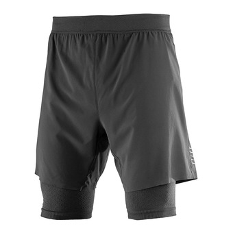 Short 2 en 1 homme EXO MOTION black