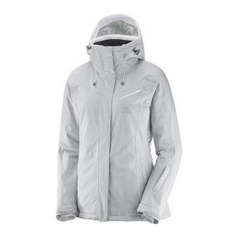 Chaqueta de esquí mujer FANTASY light grey heather