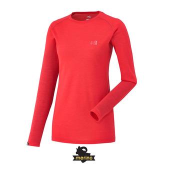 Camiseta térmica mujer LD C WOOL BLEND 150 hibiscus