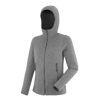 Sweat zippé à capuche femme LD ICELAND heather grey
