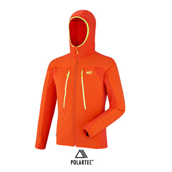 Veste à capuche Polartec® homme TOURING ALPHA COMPO  orange