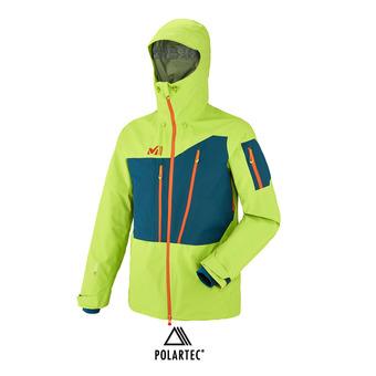 Veste à capuche Polartec® homme M WHITE NEO 3L acid green/poseidon