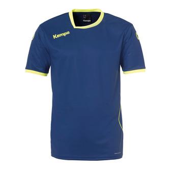 Camiseta hombre CURVE azul profundo/amarillo flúor