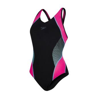 Maillot de bain 1 pièce femme FIT SPLICE black/electric pink/turquoise