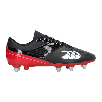 Botas de rugby híbridas hombre PHEONIX RAZE black/true red