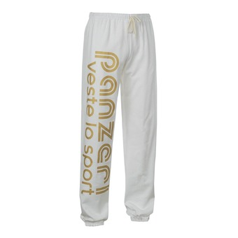 Pantalón de chándal UNI H blanco/dorado
