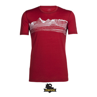 Tee-shirt MC homme TECH LITE PYRENEES oxblood