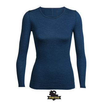 Camiseta mujer AERO largo/midnight navy