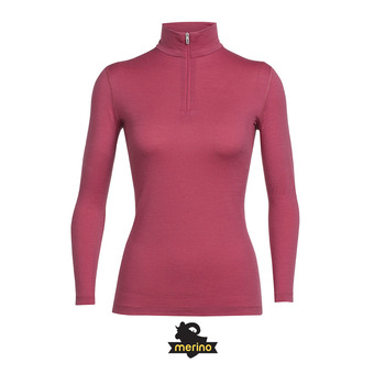 Sous-couche ML 1/2 zip femme OASIS wild rose