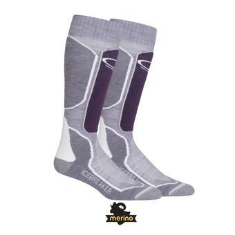 Calcetines de esquí mujer SKI+ MEDIUM OTC silk hthr/eggplant/snow
