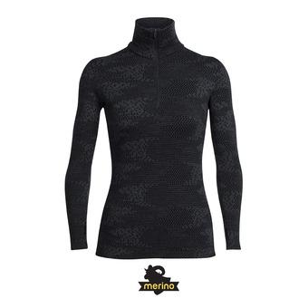 Camiseta térmica mujer VERTEX FLURRY black/jet hthr