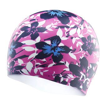 Bonnet de bain HIBISCUS pink/blue