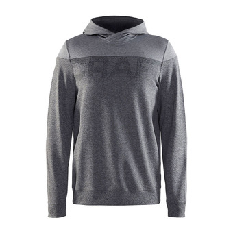 Sweat à capuche homme TAG anthra/gris