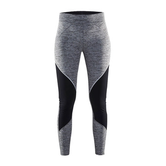 Mallas mujer COVER THERMAL anthra jaspeado/negro