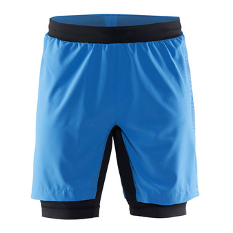Short 2 en 1 homme GRIT ray