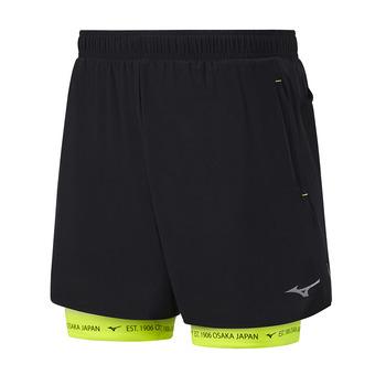 Short 2 en 1 hombre MUJIN SQ 7.5 black/safety yellow