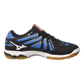 Zapatillas indoor hombre WAVE HURRICANE 3 black/white/fiery coral