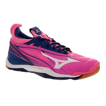 Chaussures indoor femme WAVE MIRAGE 2 pink glo/white/true blue