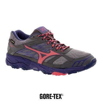 Zapatillas de trail mujer WAVE MUJIN 4 GTX griffin/paradise pink/deep blue